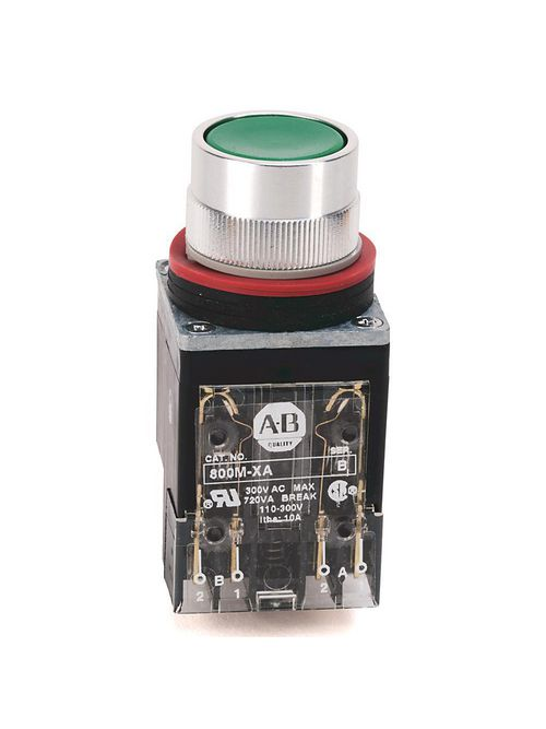 Allen-Bradley 800MR-A1BK Flush 22.5 mm Round NEMA Push Button