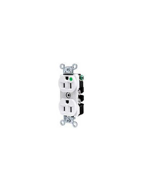 Hubbell Wiring Devices 8300I 20 Amp 125 Volt 2-Pole 3-Wire NEMA 5-20R Ivory Straight Blade Duplex Receptacle