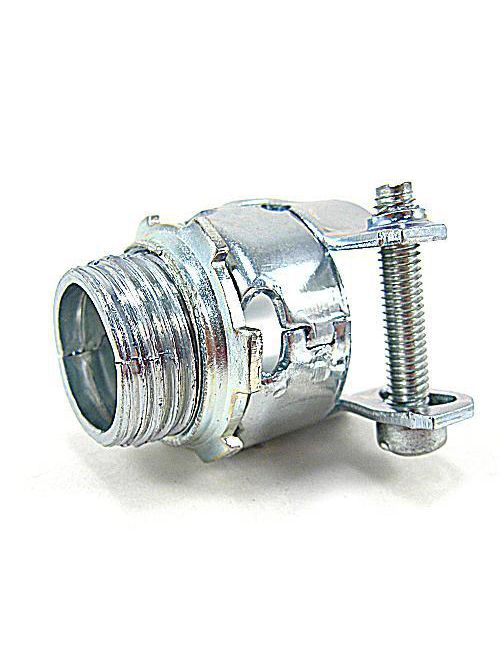 Thomas & Betts 278-TB 3-1/2 Inch Zinc Plated Malleable Iron Straight AC/Flexible Metallic Conduit Squeeze Connector