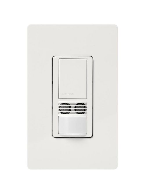 Lutron Electronics MS-A102-WH 120 to 277 VAC 6 Amp 1-Pole White Dual Technology Occupancy Sensor Switch