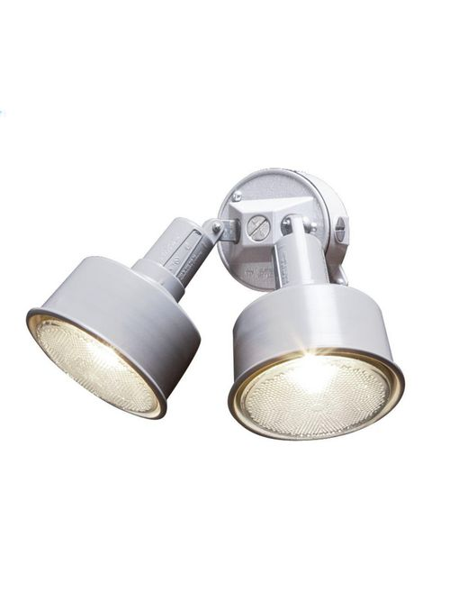 Bell 5876-6 4 Inch 75 to 150 W PAR38 Lamp White Powder Coated Rugged Die-Cast Metal Round Weatherproof Light Kit