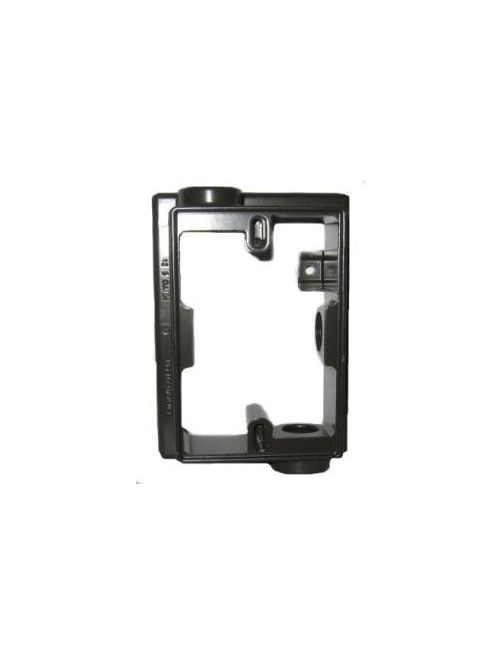 Teddico EXF75-2V 1-Gang 5-1/4 x 3-1/2 x 1-1/2 Inch 3/4 Inch Hub Gray Die-Cast Metal Box Extension Adapter