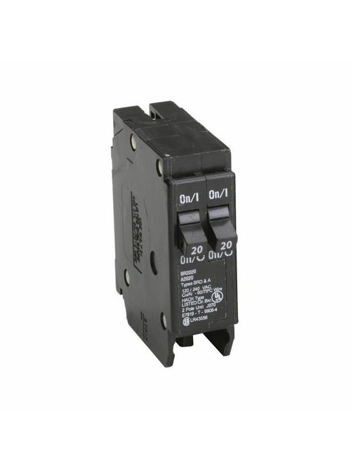 Eaton Electrical BR2020CS 1 Inch Type BR Plug-On Circuit Breaker with Clamshell Pack