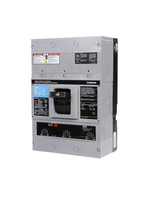 Siemens Industry JXD63B250 3-Pole 250 Amp 600 Volt 25 kA Molded Case Circuit Breaker