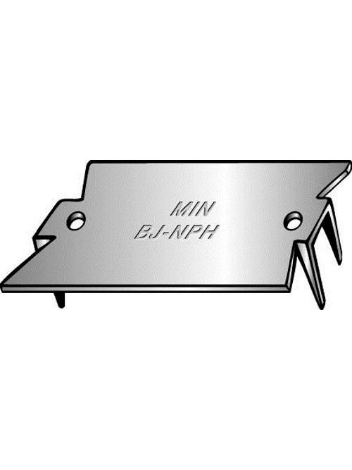 Minerallac BJNPH 2-1/2 x 1-1/2 Inch Pre-Galvanized Steel Nail Plate with Hole