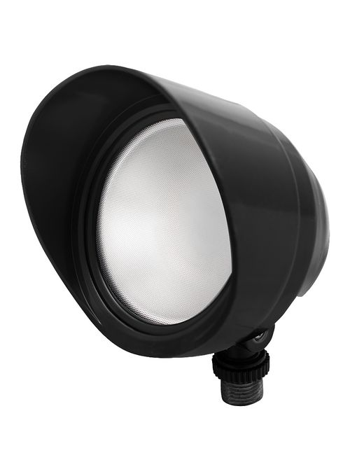 RAB BULLET12B 12 W 120 Volt 4-3/4 x 4-1/2 Inch Cool Black Die-Cast Aluminum LED Floodlight Fixture