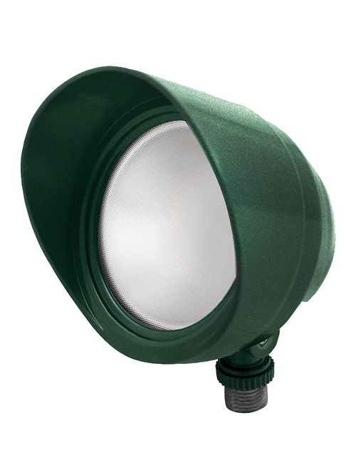 RAB BULLET12NVG 12 W 120 Volt 4-3/4 x 4-1/2 Inch Neutral Verde Green Die-Cast Aluminum LED Floodlight Fixture