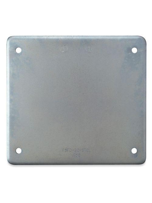 Thomas & Betts S1002-TB 2-Gang Steel Blank Cover