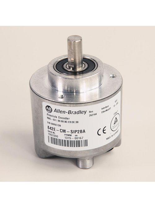 Allen Bradley 842E-CM-SIP2BA 10 to 30 Volt 200 mA 3 W 10/100 Mb/Sec Binary Code Single Turn Ethernet/IP Absolute Encoder