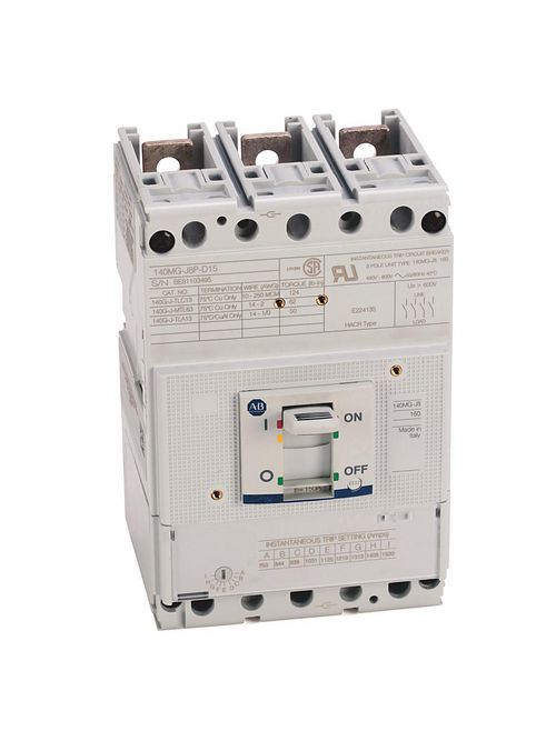 Allen Bradley 140MG-J8P-D17 175 Amp J-Frame Motor Protector Circuit Breaker