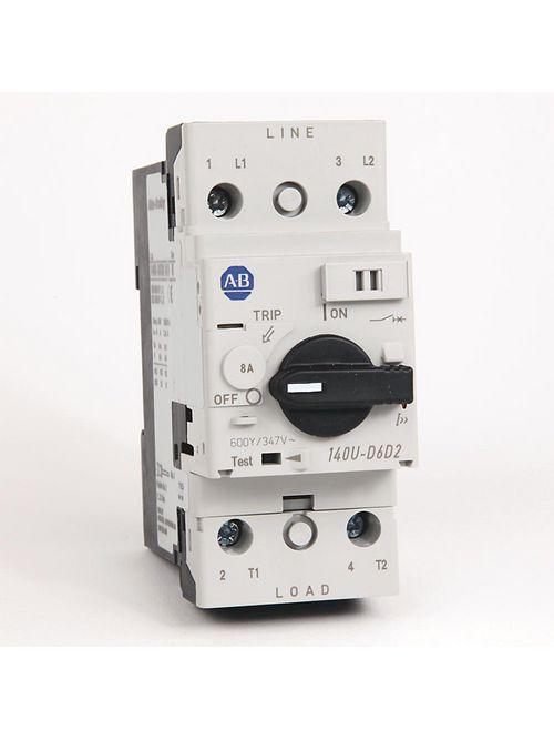 Allen Bradley 140U-D6D2-B80 UL 489 8 Amp 2-Pole Circuit Breaker
