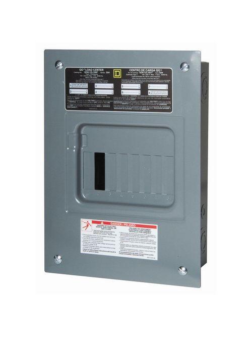 Square D QO6L100RB 120/240 VAC 100 Amp 1-Phase 3-Wire 6-Circuit Main Lug Load Center