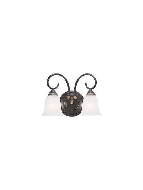 Sea Gull Lighting 4003-85 2-Lamp 100 W 120 Volt Gold Patina Medium A19 Wall/Bath Mount Light Fixture