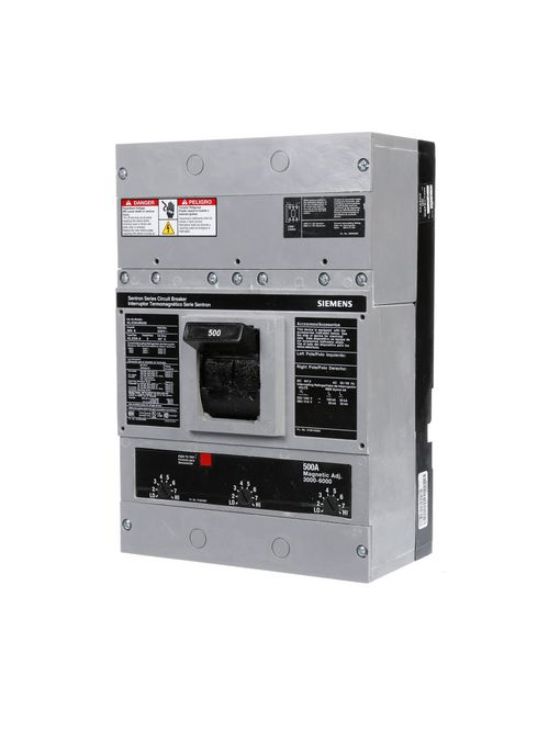 Siemens Industry HLXD63B500 3-Pole 600 Volt 500 Amp Circuit Breaker