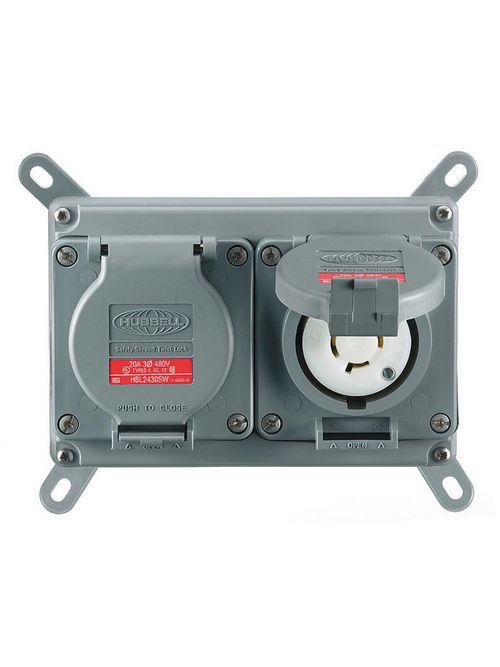 HCI MCWF2020 PRE-WIRED W/P BOX 20A/
