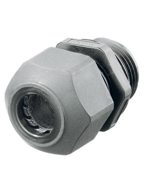 Hubbell Wiring Devices SEC75GA 3/4 Inch Threaded 0.45 to 0.71 Inch Gray Non-Metallic Low Profile Cord Connector