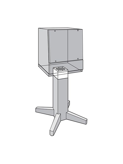 Hoffman APE6SS Stainless Steel Pedestal Extension Fits 8 x 8 Inch