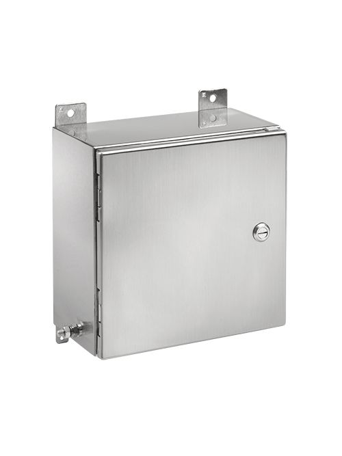 Hoffman EXE12126SS61 12 x 12 x 6 Inch 316 Stainless Steel NEMA 4X Hinged Cover Hazardous Location Enclosure