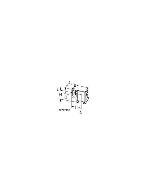 Hoffman F22LE9KT 2.5 x 2.5 Inch Steel 90 Degrees Clockwise Wireway Elbow