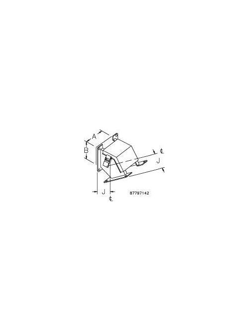 Hoffman F88LE45C 8 x 8 Inch Steel 45 Degrees Outside Opening Wireway Elbow
