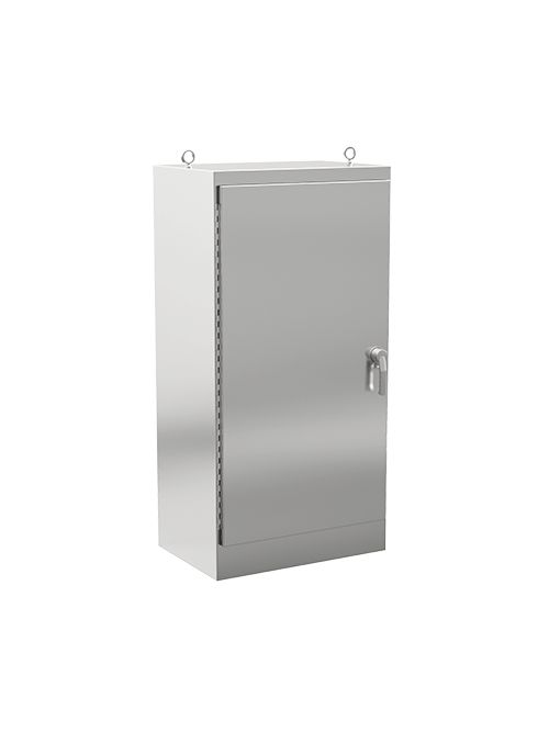 Hoffman A722424SSFSN4 72.06 x 24.06 x 24.06 Inch 12 Gauge 304 Stainless Steel NEMA 4X 1-Door Floor Mount Enclosure