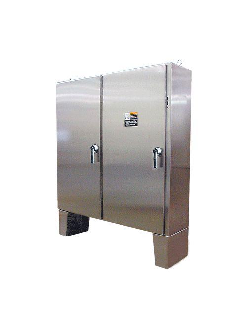 Hoffman A60X6112SSLPN4 60.12 x 61.75 x 12.12 Inch 12 Gauge 304 Stainless Steel NEMA 4X 2-Door Disconnect Enclosure