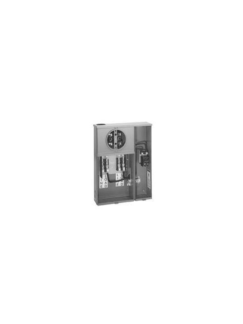 B-Line Series U214 MTBH 240 Volt 200 Amp 2-Pole 1-Phase 3-Wire 4-Jaw Meter Main Socket with Bypass