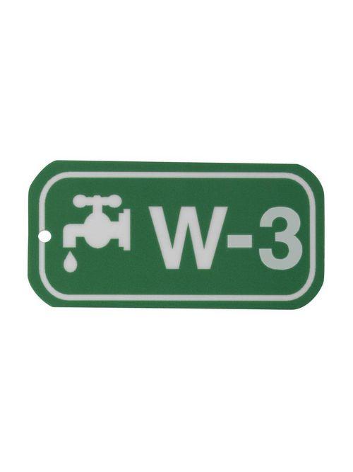 """BRADY 105646 B401 1.5""""X3"""" WHT/GRN E"""
