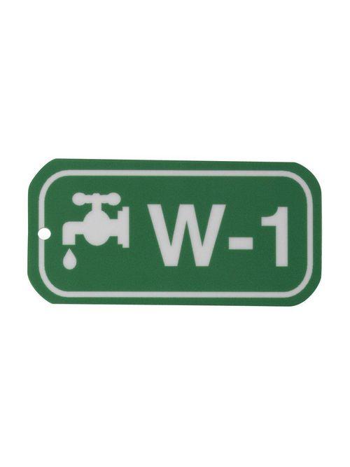 """BRADY 105644 B401 1.5""""X3"""" WHT/GRN E"""