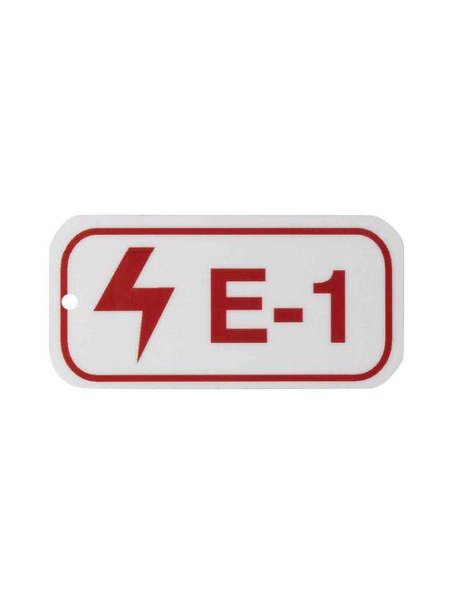 "BRADY 105639 B401 1.5""X3"" RED/WHT E"