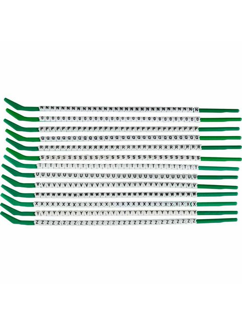 BRADY SCN09-N-Z Wire Mkr,ClipSlv,N