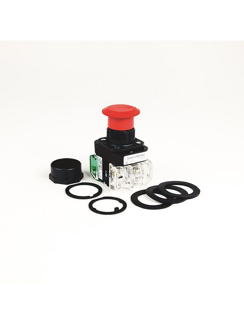 Allen-Bradley 800HC-FRXTPH16RA1 Red Plastic 30.5 mm 2-Position Illuminated Push Button