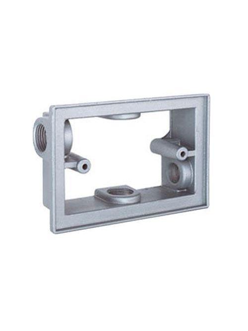 Teddico EXF5-2V 1-Gang 5-1/4 x 3-1/2 x 1-1/2 Inch 1/2 Inch Hub Gray Die-Cast Metal Box Extension Adapter