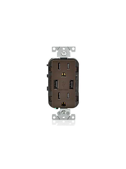 LEV T5632-B 5-15R USB COMBINATION R
