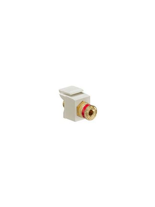 Leviton 40833-BAR Almond Binding Post Adapter with Red Stripe
