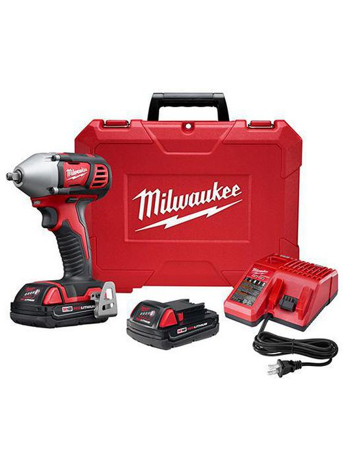"Milwaukee 2658-22CT M18™ 3/8"" Impact Wrench Compact Kit"