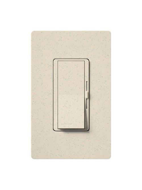 Lutron Electronics DVSCLV-10P-LS 800 W 120 Volt Limestone 1-Pole Magnetic Low Voltage Paddle Switch Preset Dimmer