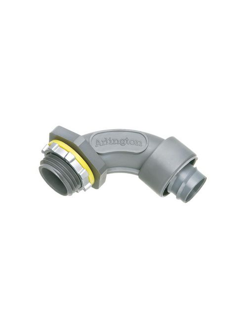 Arlington NMSC9075 3/4 Inch 90 Degree Screw On Non-Metallic Liquidtight Connector