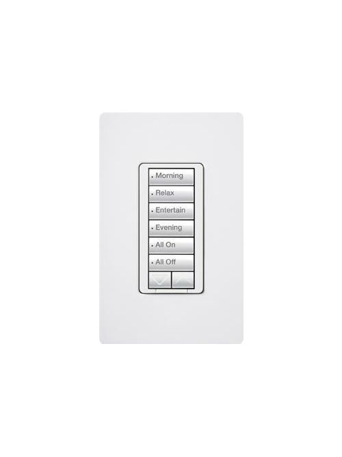 Lutron Electronics RRD-H6BRL-LA 30 Foot 120 VAC 450 W 6-Button Light Almond wall Mount Hybrid Keypad