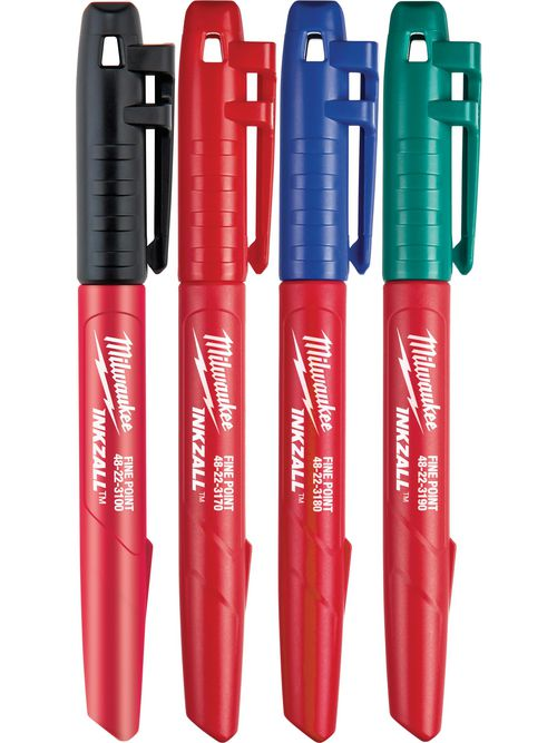 Milwaukee 48-22-3106 INKZALL™ Fine Point Colored Markers (4 Pack)