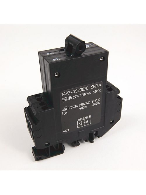 Allen-Bradley 1492-GS2G020 High Density 2 Amp Miniature Circuit Breaker and Supplementary Protector