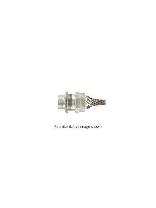 Leviton L7736 2 Inch Male Threaded Aluminum Single/Double Weave Straight Strain Relief Deluxe Cord Grip