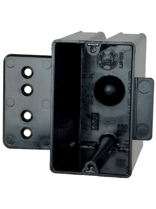 Allied Moulded Products P-241HQT 3-9/16 x 2-1/4 x 3-3/4 Inch 24 In 1-Gang PVC Switch/Receptacle Outlet Box