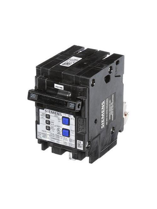 Siemens Industry Q220AFCP 2-Pole 20 Amp 120/240 VAC 10 kA Circuit Breaker
