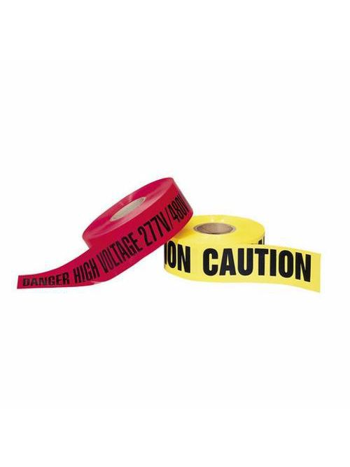 """IDEAL 42-011 BARRIER TAPE,YLW""""""""CAUTI"""