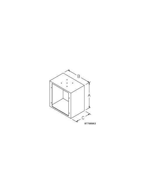 Hoffman LLB161612 166 x 160 x 102 mm Enclosure Solid Back Body