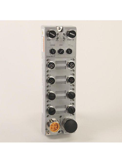 Allen Bradley 1732E-12X4M12P5QCDR Armorblock 12-Input 4-Output Ethernet/IP Module with Quick Connect