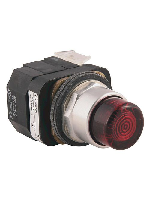 Allen-Bradley 800T-PBH16W 30.5 mm Type 4/13 Momentary Contact White AC 1 NO - 1 NC Extended Head LED Illuminated Push Button