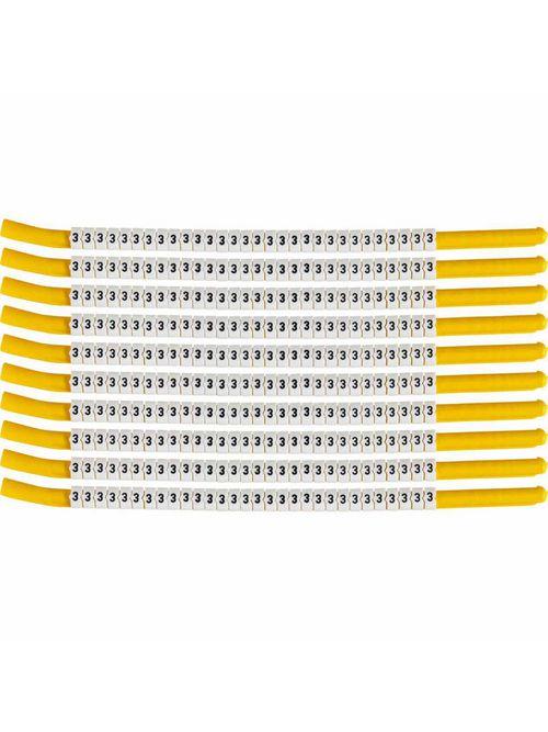 BRADY SCN18-3 Wire Mkr,ClipSlv,3,SC
