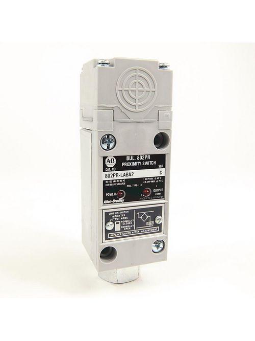 Allen-Bradley 802PR-LABA2 2-Wire AC High Output 14 mm Distance Side Sensing Shielded NO/NC Proximity Sensor